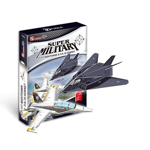 F-117 NIGHTTHAWK & F/A 18 HORNET